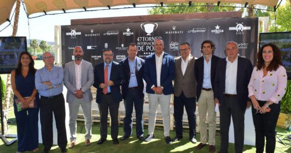 Autoridades en la presentación del 47º Torneo Internacional de Polo en San Roque, Cádiz